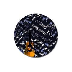 Sound Waves Magnet 3  (round)