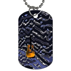 Sound Waves Dog Tag (Two-sided)