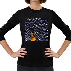 Sound Waves Women s Long Sleeve T Shirt (dark Colored)