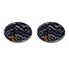Sound Waves Cufflinks (Oval)