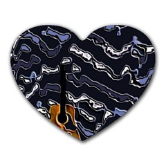 Sound Waves Mouse Pad (heart)