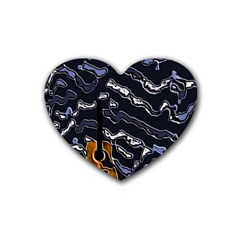 Sound Waves Drink Coasters 4 Pack (Heart)