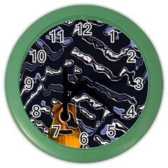 Sound Waves Wall Clock (color)