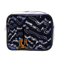 Sound Waves Mini Travel Toiletry Bag (one Side)