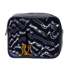 Sound Waves Mini Travel Toiletry Bag (Two Sides)