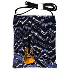 Sound Waves Shoulder Sling Bag