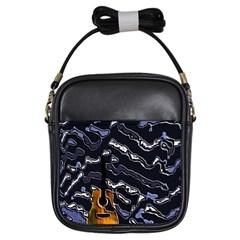 Sound Waves Girl s Sling Bag