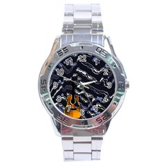 Sound Waves Stainless Steel Watch