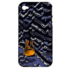Sound Waves Apple iPhone 4/4S Hardshell Case (PC+Silicone)