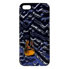 Sound Waves Apple Iphone 5 Premium Hardshell Case