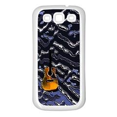 Sound Waves Samsung Galaxy S3 Back Case (White)
