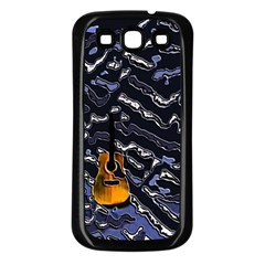 Sound Waves Samsung Galaxy S3 Back Case (black)