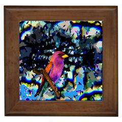 Bird Framed Ceramic Tile