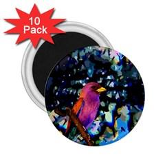 Bird 2 25  Button Magnet (10 Pack)