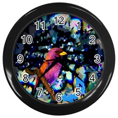 Bird Wall Clock (Black)