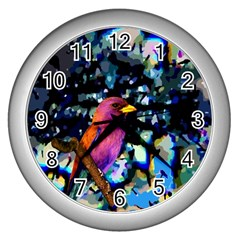 Bird Wall Clock (Silver)