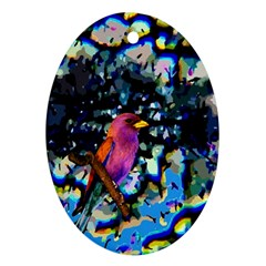 Bird Oval Ornament (Two Sides)