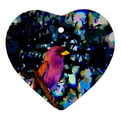 Bird Heart Ornament (Two Sides)