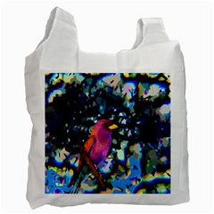 Bird White Reusable Bag (Two Sides)