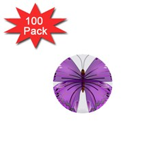 Purple Awareness Butterfly 1  Mini Button (100 pack)