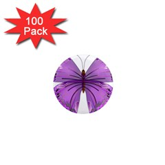 Purple Awareness Butterfly 1  Mini Button Magnet (100 pack)