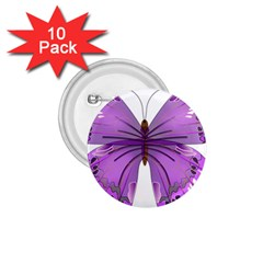 Purple Awareness Butterfly 1.75  Button (10 pack)