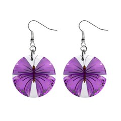 Purple Awareness Butterfly Mini Button Earrings