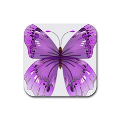 Purple Awareness Butterfly Drink Coasters 4 Pack (square)
