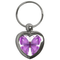 Purple Awareness Butterfly Key Chain (Heart)
