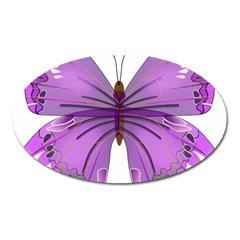 Purple Awareness Butterfly Magnet (Oval)