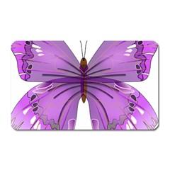 Purple Awareness Butterfly Magnet (Rectangular)