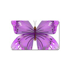 Purple Awareness Butterfly Magnet (Name Card)