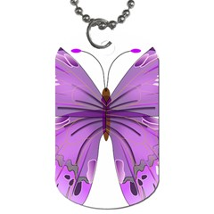 Purple Awareness Butterfly Dog Tag (Two-sided)
