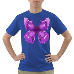 Purple Awareness Butterfly Men s T-shirt (Colored)