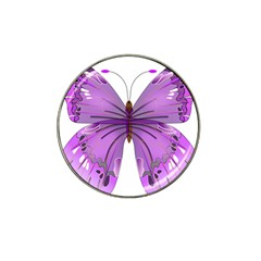 Purple Awareness Butterfly Golf Ball Marker 4 Pack (for Hat Clip)