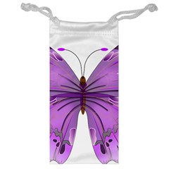 Purple Awareness Butterfly Jewelry Bag