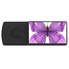 Purple Awareness Butterfly 4GB USB Flash Drive (Rectangle)