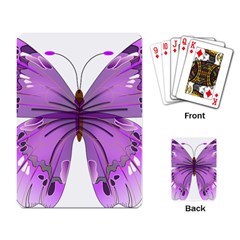 Purple Awareness Butterfly Playing Cards Single Design