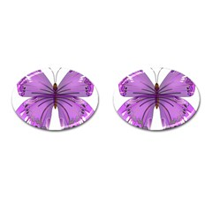 Purple Awareness Butterfly Cufflinks (Oval)