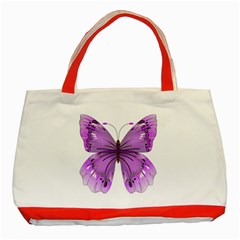 Purple Awareness Butterfly Classic Tote Bag (red)