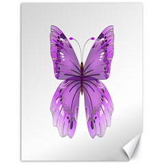 Purple Awareness Butterfly Canvas 18  X 24  (unframed)