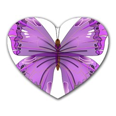Purple Awareness Butterfly Mouse Pad (heart)
