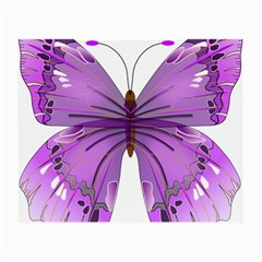 Purple Awareness Butterfly Glasses Cloth (Small, Two Sided)