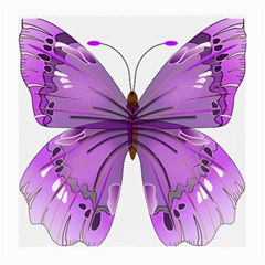 Purple Awareness Butterfly Glasses Cloth (Medium, Two Sided)