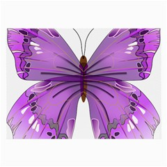 Purple Awareness Butterfly Glasses Cloth (Large)
