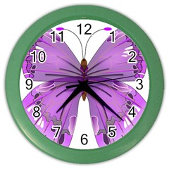 Purple Awareness Butterfly Wall Clock (Color)