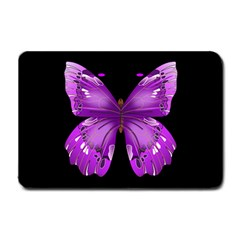 Purple Awareness Butterfly Small Door Mat