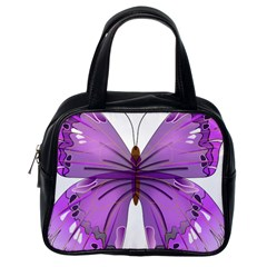 Purple Awareness Butterfly Classic Handbag (One Side)