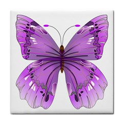 Purple Awareness Butterfly Face Towel
