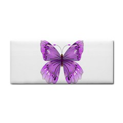 Purple Awareness Butterfly Hand Towel